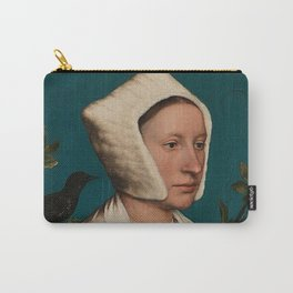 PORTRAIT OF A LADY WITH A SQUIRREL AND A STARLING - HANS HOLBEIN Carry-All Pouch
