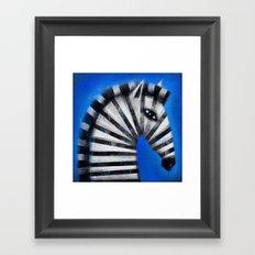 STRIPED PROFILE Framed Art Print