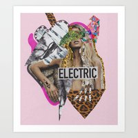 sia Art Prints featuring ELECTRIC FANTA-SIA  by Vasare Nar