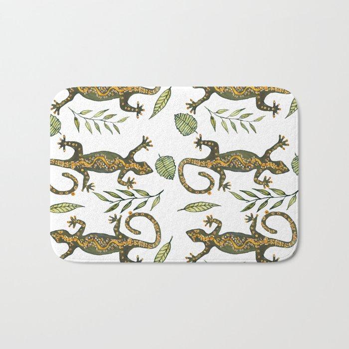 Lady Gecko Bath Mat By Annahedeklint Society6