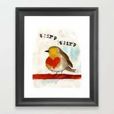 Tjirp Tjirp Framed Art Print