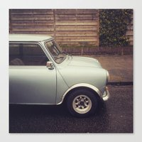 mini cooper Canvas Prints featuring Mini Cooper by Marieken