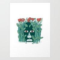 The Paranoid Gardener Art Print