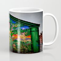 hippy Mugs featuring house hippy by  Agostino Lo Coco