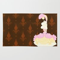 marie antoinette Area & Throw Rugs featuring Marie Antoinette  by Delucienne Maekerr