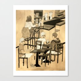 Coffee Shop Canvas Print