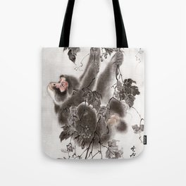 Monkey Hanging from Grapevines Tote Bag