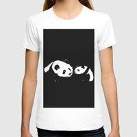 pandas T-shirts featuring Pandas by Elena Medero