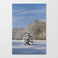Snowy Christmas Tree Canvas Print