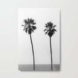 Palm trees by the sea | monochrome Metal Print