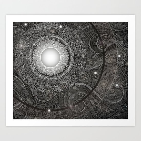 Luna Kiss Art Print