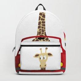 Giraffe in a Car Backpack