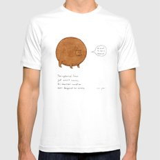 the spherical bear White Mens Fitted Tee MEDIUM