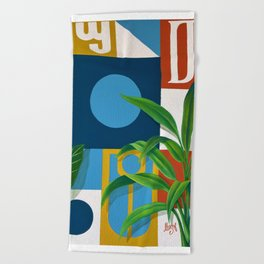 Geo Alphabet #1 Beach Towel