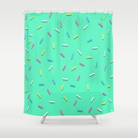 sprinkles Shower Curtains featuring Sprinkles! by Planet64