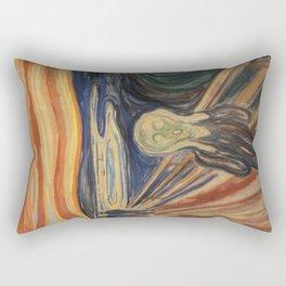 The Scream, Edvard Munch, classic painting Rectangular Pillow