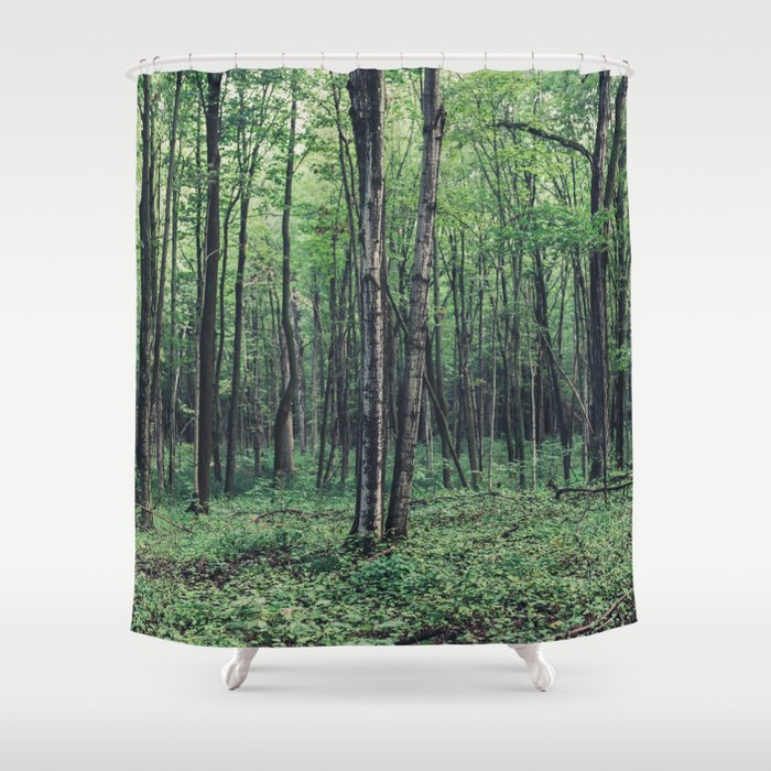 Forest Shower Curtain By Jengrantham