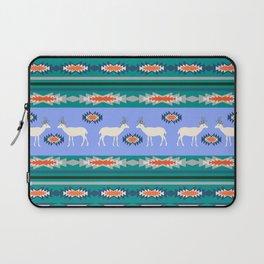 Decorative Christmas pattern with deer II Laptop Sleeve