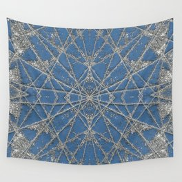 Snowflake Blue Wall Tapestry