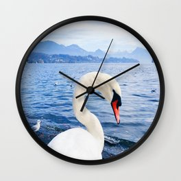 Swan & Alps Wall Clock