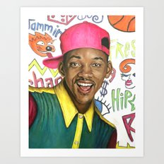 Fresh Prince of Bel Air - Will Smith Art Print