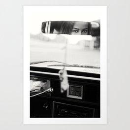 Eyes In The Mirror Art Print