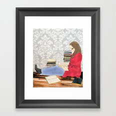 A studious world... Framed Art Print