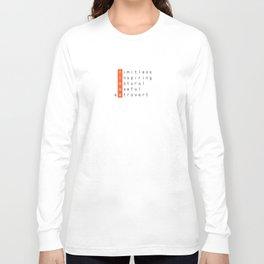 Linux - limitless, inspiring, natural, useful, extrovert - vertical Long Sleeve T-shirt