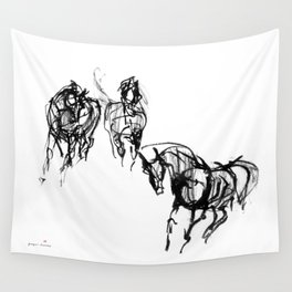 Horses (Trio) Wall Tapestry