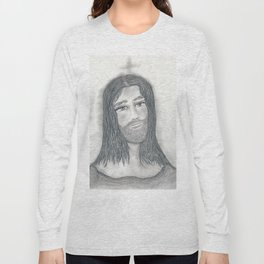Serene Jesus Long Sleeve T-shirt