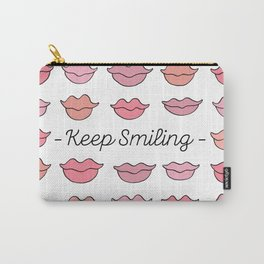 Keep Smiling Carry-All Pouch