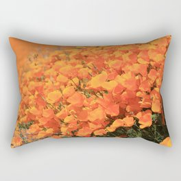 Golden Meadow of California Poppies in Bloom by Reay of Light Photography Rectangular Pillow