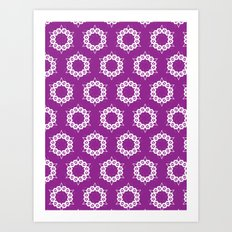 Abstract Stars Pattern Art Print