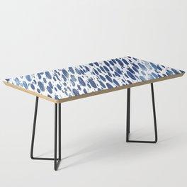 Boho Blue Brushstroke Coffee Table