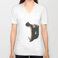 hippo V-neck T-shirts featuring Hippo by ialbert
