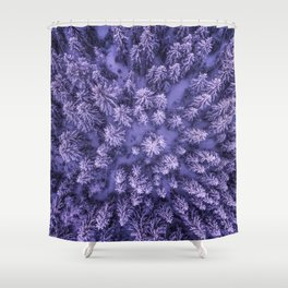 Aerial Pine Shower Curtain