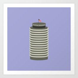 Capitol Records Building - Los Angeles, California Art Print