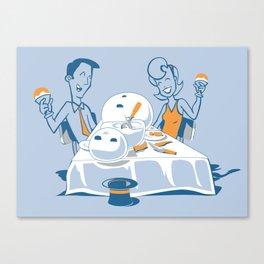 Neighbors Ate My Snowman Canvas Print
