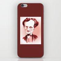 edgar allan poe iPhone & iPod Skins featuring Edgar Allan Poe by Diego Abelenda