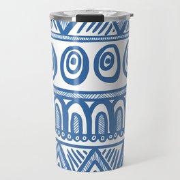 Geo Blue Travel Mug