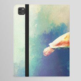 Sea Turtle Painting iPad Folio Case
