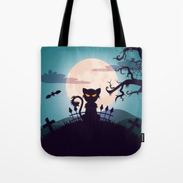 Cat in The Moon light Tote Bag