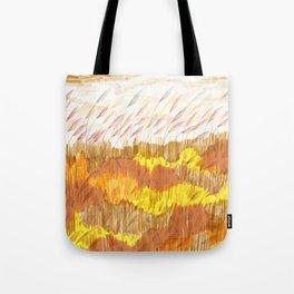 Golden Field drawing by Amanda Laurel Atkins Tote Bag