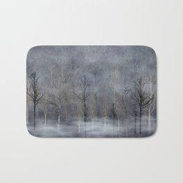 Winter Trees in Misty Fog Bath Mat