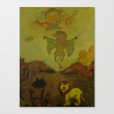 Lion Heaven Canvas Print