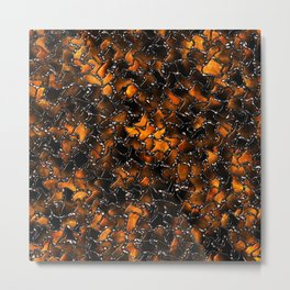 Ancient Amber Tiles Set in Gothic Metal Metal Print