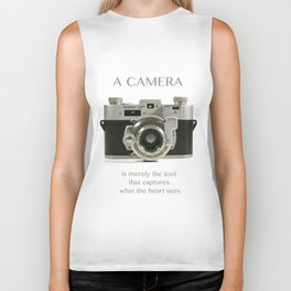 A Camera is Merely a Tool That Captures What the Heart Sees Biker Tank