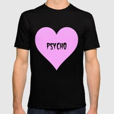 Psycho Mens Fitted Tee Black MEDIUM