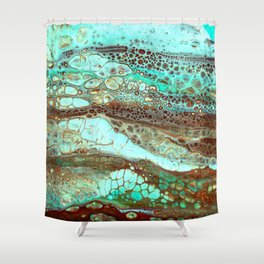 Abstract Annemarie Shower Curtain