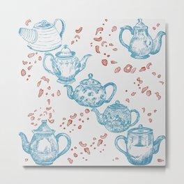 Vintage Teapots Metal Print